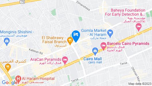 Barceló Cairo Pyramid Map