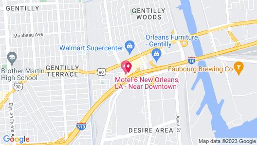 Motel 6 New Orleans, LA - Near Downtown Map