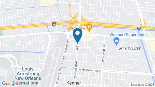 La Quinta Inn & Suites by Wyndham New Orleans Airport Map