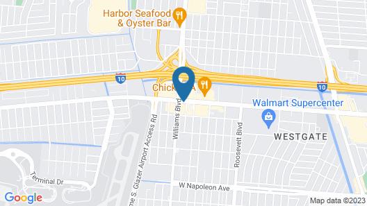 Red Roof Inn Kenner - New Orleans Airport NE Map