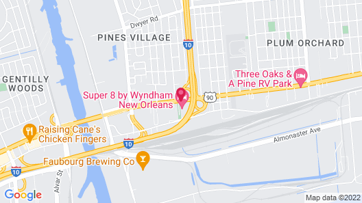Super 8 by Wyndham New Orleans Map