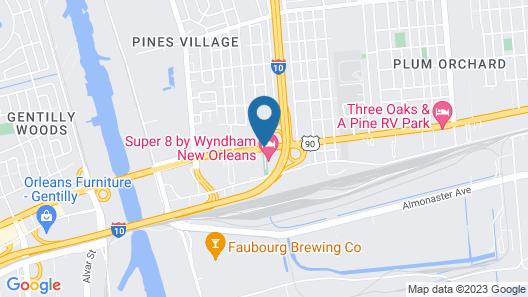 Ramada by Wyndham New Orleans Map