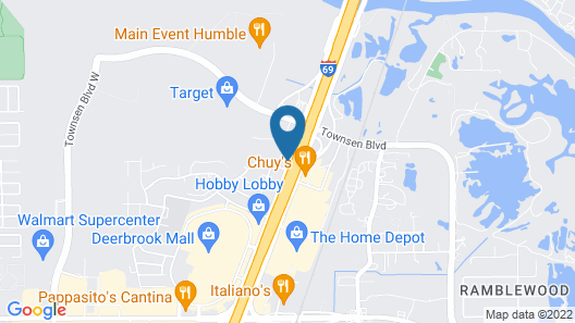 Country Inn & Suites by Radisson, Houston Intercontinental Airport East, TX Map