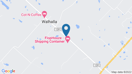 Flophouze Shipping Container Hotel Map
