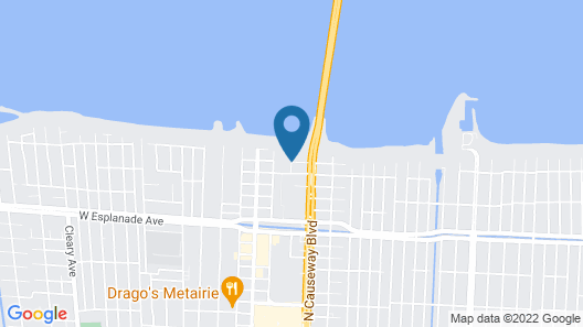 New Orleans Marriott Metairie at Lakeway Map