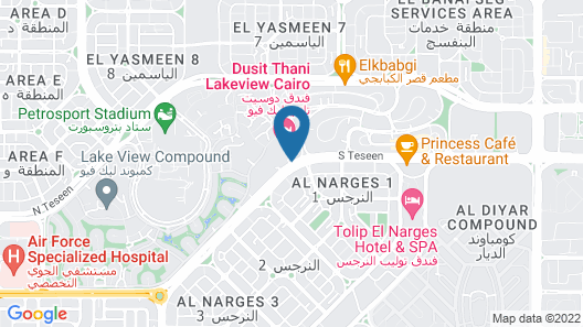 Dusit Thani LakeView Cairo Map