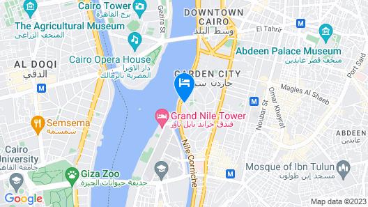 Four Seasons Hotel Cairo at Nile Plaza Map