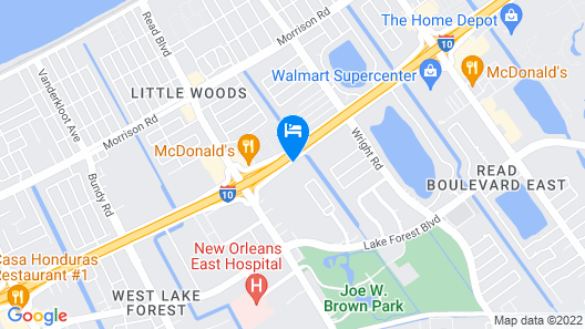 Best Western New Orleans East Map