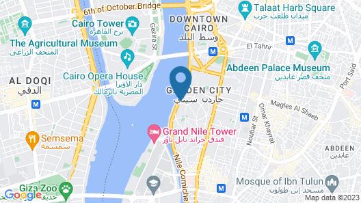 Kempinski Nile Hotel Cairo Map