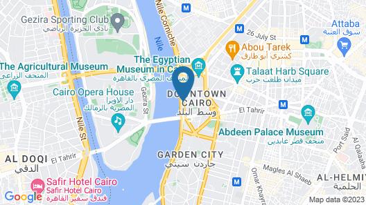 The Nile Ritz-Carlton, Cairo Map
