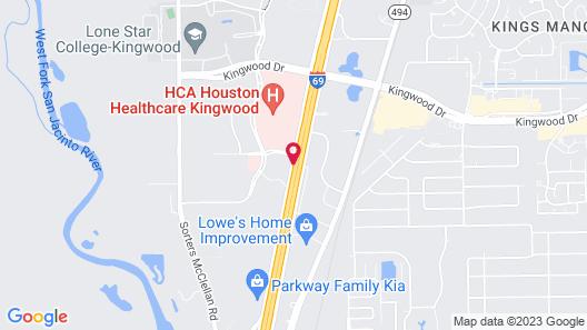 Holiday Inn Express Hotel & Suites Houston-Kingwood Map