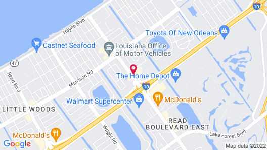 Holiday Inn Express New Orleans East, an IHG Hotel Map