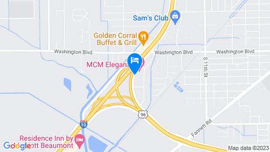 MCM Eleganté Hotel & Conference Center Beaumont Map