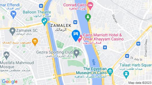 Cairo Marriott Hotel & Omar Khayyam Casino Map