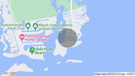 Waterfront Crawfordville Home on Live Oak Island! Map