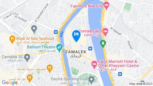 Hotel Longchamps Cairo Map