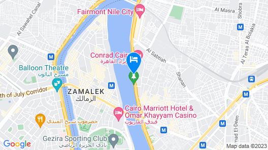 Hilton Cairo World Trade Center Residences Map