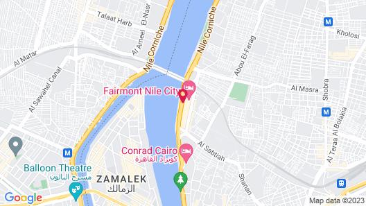 Fairmont Nile City, Cairo Map