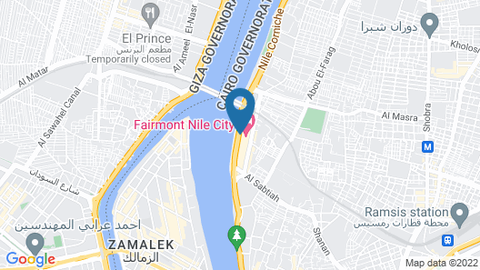 Fairmont Nile City, Cairo Map
