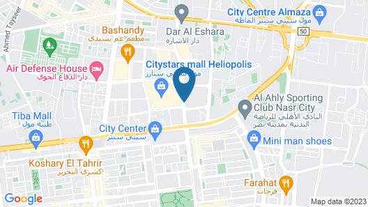 InterContinental Cairo Citystars Map