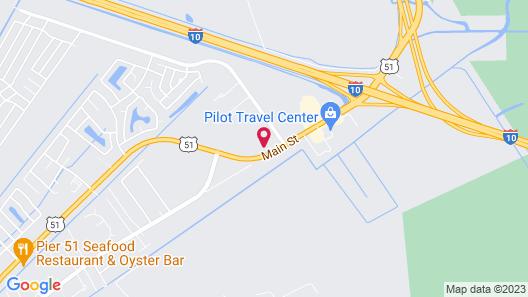 Motel 6 La Place, LA Map