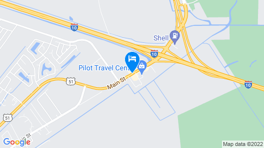 Hampton Inn Laplace Map