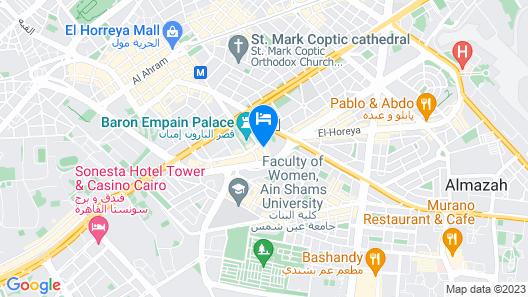 Baron Hotel Cairo Heliopolis Map