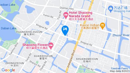 GreenTree Inn Shaoxing Keqiao Xingyue Road Zhongqing Building Hotel Map