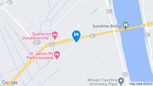 Supreme Inn & Suites - St. James Map