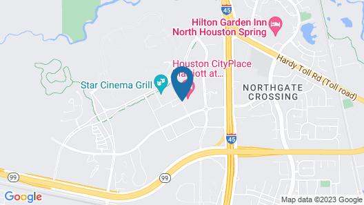 Houston Cityplace Marriott at Springwoods Village Map