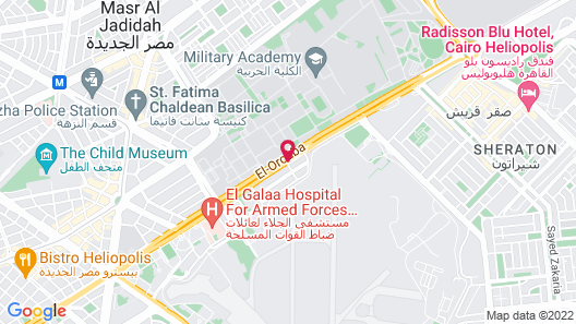 Hilton Cairo Heliopolis Map