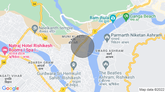 Hotel Vasundhara Palace Near Ram Jhula Rishikesh, Close to River Ganga Map