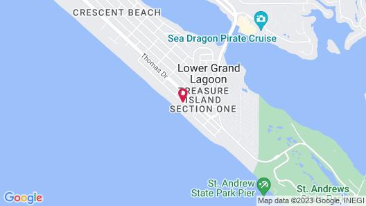 Seychelles Beach Resort by Panhandle Getaways Map