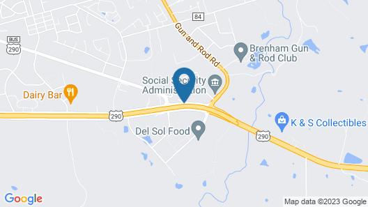 Super 8 by Wyndham Brenham TX Map