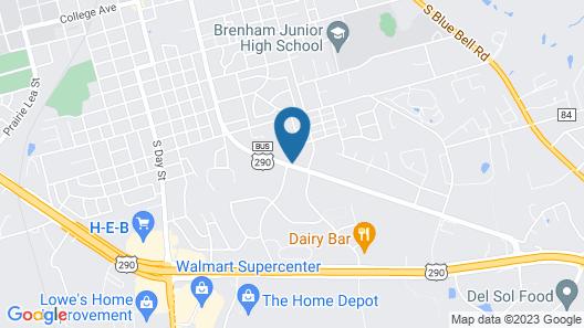 Americas Best Value Inn Brenham Map
