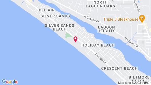 Dunes of Panama Beach Resort by Panhandle Getaways Map