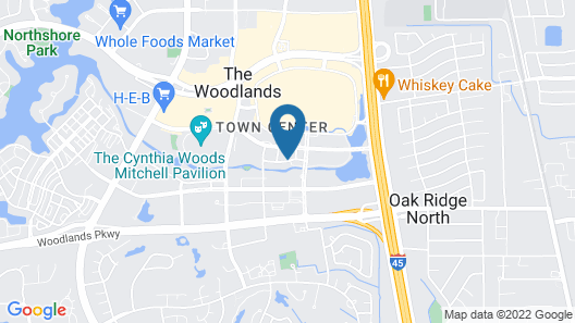 The Westin At The Woodlands Map