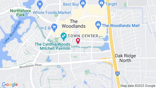 The Woodlands Waterway Marriott Hotel & Convention Center Map