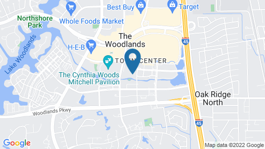 The Woodlands Waterway Marriott Hotel & Convention Center Map