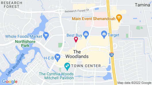 Hilton Garden Inn Houston / The Woodlands Map