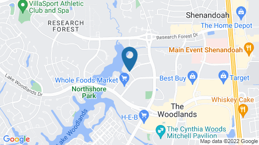 Embassy Suites by Hilton The Woodlands at Hughes Landing Map