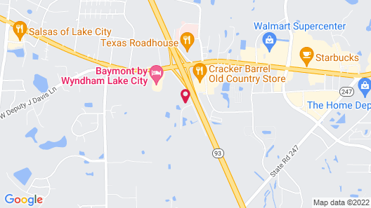Hampton Inn & Suites Lake City, FL Map