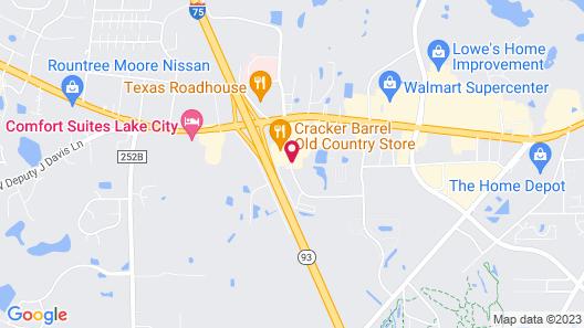 Quality Inn Lake City Map