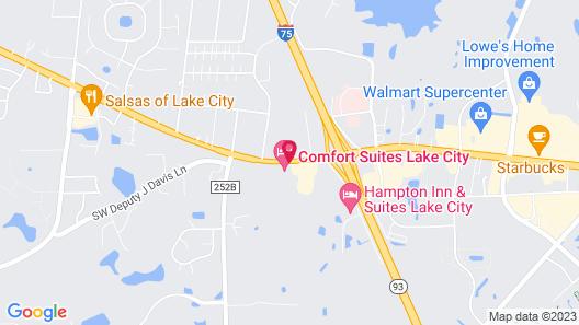 Comfort Suites Lake City Map