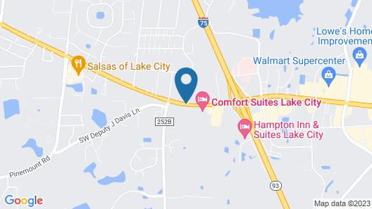 Americas Best Value Inn Lake City Map