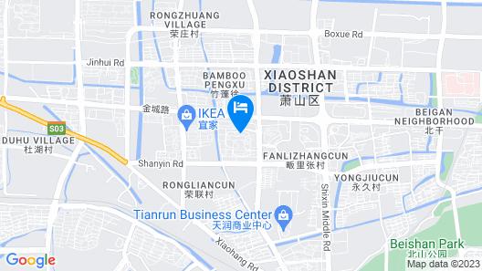 Holiday Inn Hangzhou Xiaoshan Map
