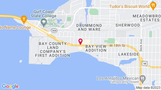 Suburban Extended Stay Hotel near Panama City Beach Map