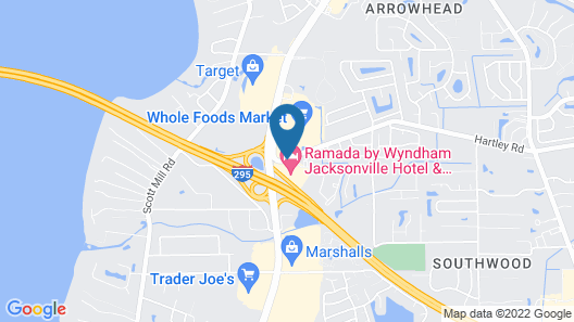 Ramada Hotel & Conference Center by Wyndham Jacksonville Map