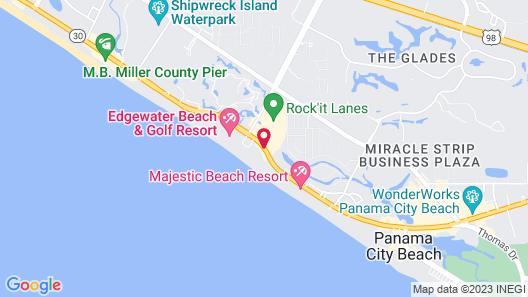 Holiday Inn Resort Panama City Beach Map
