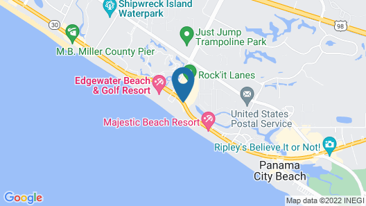 Holiday Inn Resort Panama City Beach Map